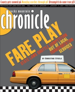 Fare Play, cover story, Rocky Mountain Chronicle, February 2007