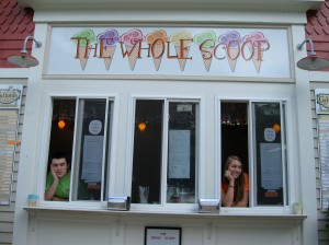 The Whole Scoop ice cream shop, 965 Main St. Hanson, MA photo by Christine Steele