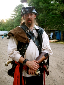 J.D. Lauriat as Capt. Maavus T. Meritt, Master of Arms on the pirate ship the Black Rose, King Richard's Faire, photo by Christine Steele